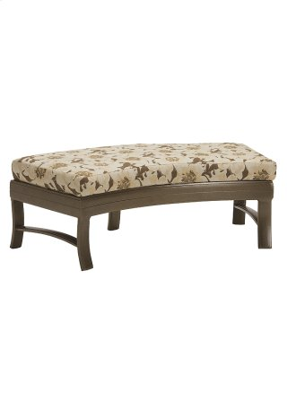 Ravello Cushion Crescent Ottoman Bench 49 x 26