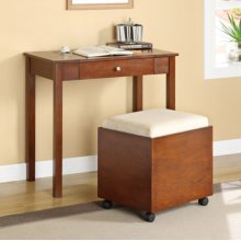 """Cherry"" Lift Top Desk & Stool with Casters"