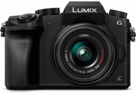 LUMIX G7 4K Mirrorless Interchangeable Lens Camera Kit with 14-42 mm Lens - Black