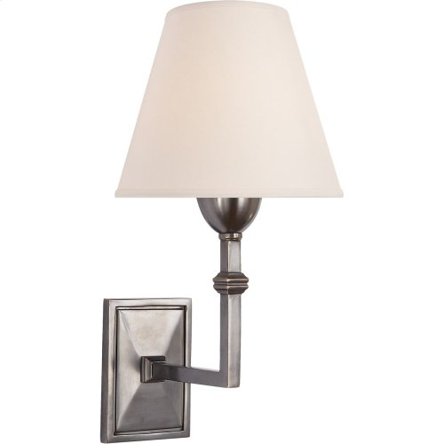 Visual Comfort AH2305GM-NP Alexa Hampton Jane 1 Light 7 inch Gun Metal Decorative Wall Light