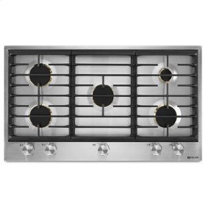 "JennAirEuro-Style 36"" 5-Burner Gas Cooktop"
