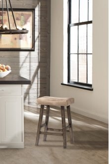 Saddle Non-swivel Backless Bar Stool - Rustic Gray