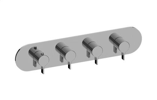 Terra M-Series Valve Horizontal Trim with Four Handles