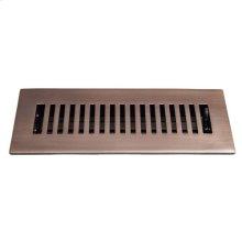 "Alameda Brass Heat Register - 2 1/4"" x 10"" (4"" x 11 1/2"") / Antique Brass"