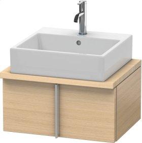 Vero Vanity Unit For Console Compact, Mediterranean Oak (real Wood Veneer)