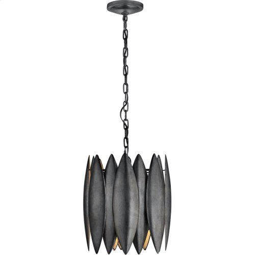 Visual Comfort S5047AI Barry Goralnick Hatton 4 Light 15 inch Aged Iron Pendant Ceiling Light, Barry Goralnick, Small