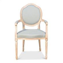 Louis Xvi Round Arm Chair,Oak,Spa