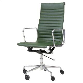Langley PU High Back Office Chair, Vintage Asparagus