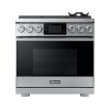 "Dacor 36"" Pro Gas Range, Silver Stainless Steel, Natural Gas"