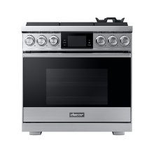"36"" Pro Gas Range, Silver Stainless Steel, Natural Gas"