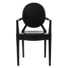 Isolde Baroque Chair-Black