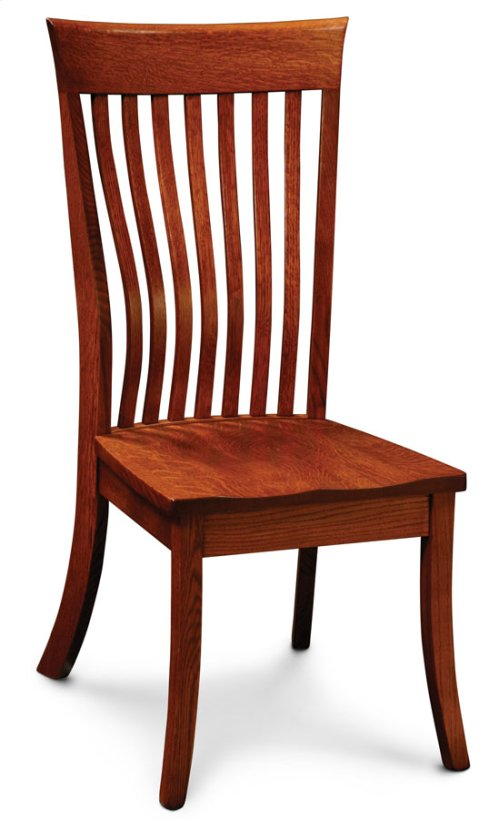 Loft II Side Chair, Leather Cushion Seat