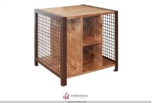 End Table with 4 open compartments