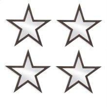 4 Pc Wood Star