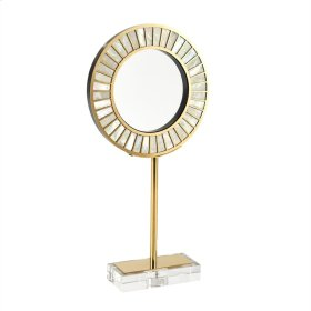 Gold & Pearl Circle Sculpture