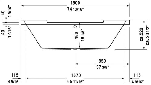 White Starck Tubs/shower Trays Bathtub