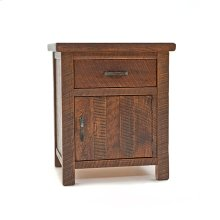 Oak Haven - 1 Door 1 Drawer Nightstand - (hinged Left)