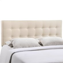 Emily Queen Upholstered Fabric Headboard in Ivory