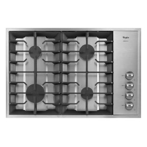 WHIRLPOOLGold(R) 30-inch Gas Cooktop with Recessed Grate Design