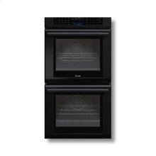 """27"""" Masterpiece Series Black Double Oven with True Convection in Both Ovens"""