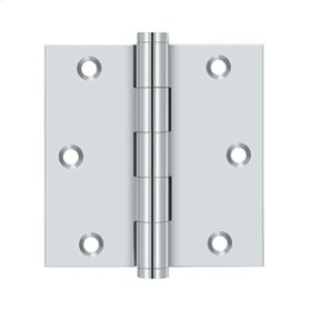 "3 1/2""x 3 1/2"" Square Hinge, Residential - Polished Chrome"
