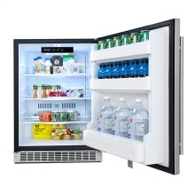 Outdoor Rated Stainless Steel Fridge