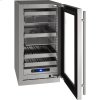 """U-Line 5 Class 18"""" Beverage Center With Stainless Frame Finish And Field Reversible Door Swing (115 Volts / 60 Hz)"""