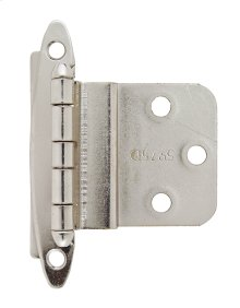 Non Self-closing, Face Mount 3/8in(10mm) Inset Hinge