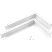 Microwave Hood Filler Kit - White