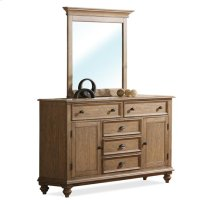 Coventry Panel Door Dresser Weathered Driftwood finish