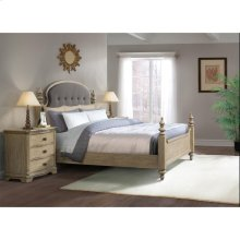 Corinne - California King Bed Rails - Sun-drenched Acacia Finish