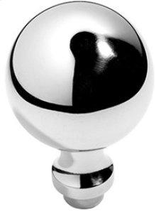 """Antique Brass Unlacquered Profile door knobs pair, 2 1/4"""" diameter"""