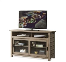 Perspectives 54-Inch TV Console Sun-drenched Acacia finish