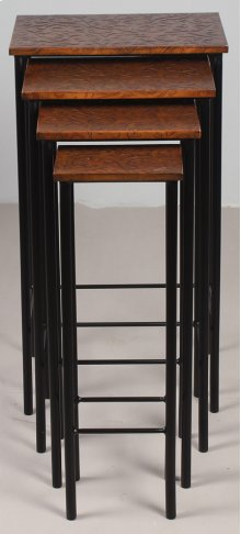Tan Leather Nesting Table