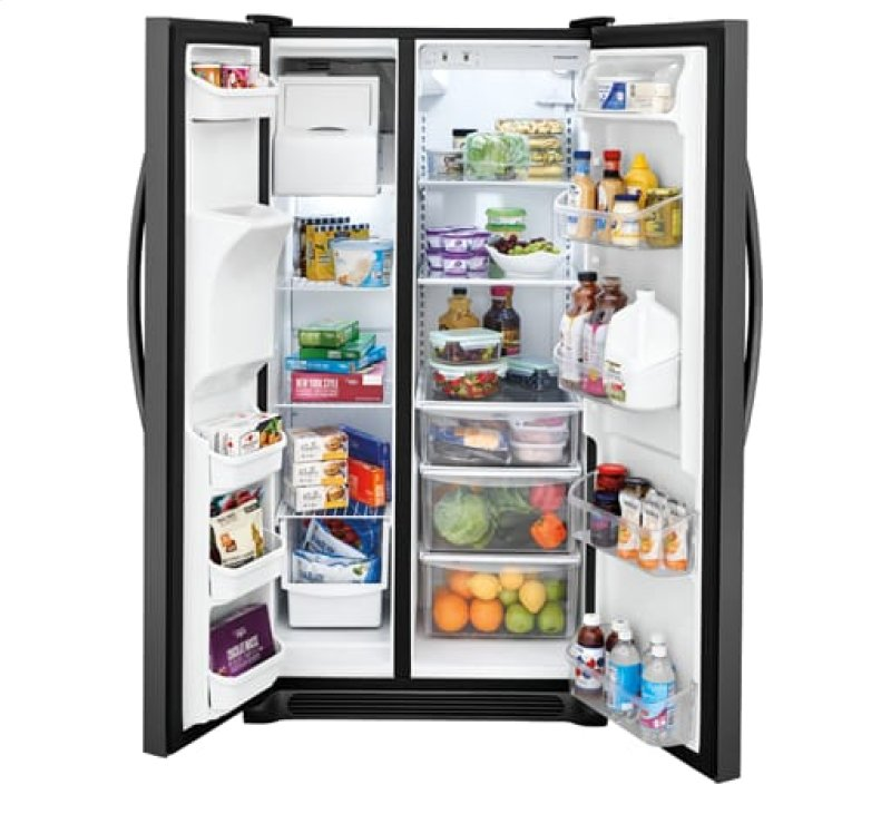 Frigidaire 25 5 Cu  Ft  Side-by-Side Refrigerator