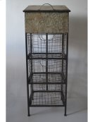 Accent Metal Cabinet-antique Black Finish -rta Product Image