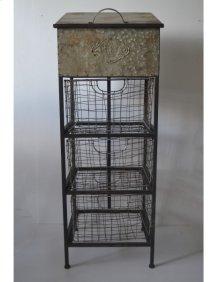 Accent Metal Cabinet-antique Black Finish -rta
