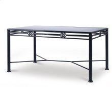 Augustine Metal Dining Table W/ Tempered Glass