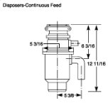 GE ®1/2 Hp Continuous Feed Garbage Disposer - Non-Corded
