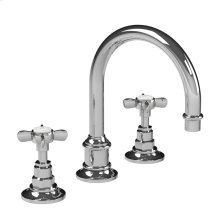 Cross handle tubular 3-hole basin mixer