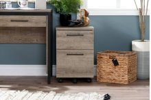 2-Drawer Mobile File Cabinet - Weathered Oak