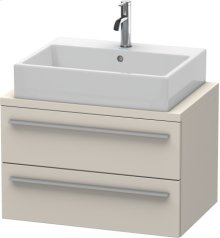 X-large Vanity Unit For Console Compact, Taupe Decor