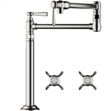 Chrome Montreux Pot Filler, Deck-Mounted