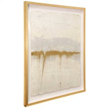 Lawrence Crain IV  36in X 46in  Hand Painted Abstract on Water Color Paper  Framed Under Glass