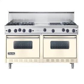 "Biscuit 60"" Open Burner Commercial Depth Range - VGRC (60"" wide, six burners 12"" wide griddle/simmer plate 12"" wide char-grill)"