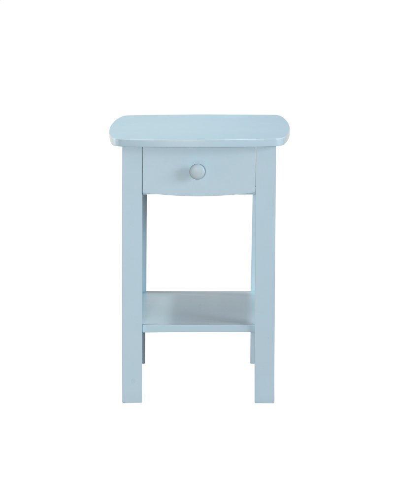 Emerald Home Decor 1 Drawer Nightstand Pastel Blue B343 04blu