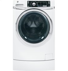 (LOANER FLOOR MODEL 1 ONLY) GE® ENERGY STAR® 4.5 DOE cu. ft. capacity RightHeight Design Front Load washer