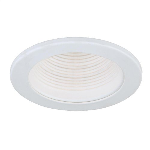 TRIM,4IN STEPPED BAFFLE AIR PROOF - White