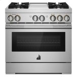"""JENN-AIRRISE 36"""" Dual-Fuel Professional Range with Chrome-Infused Griddle and Steam Assist"""