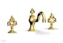COURONNE Widespread Faucet Cross Handles 163-01 - Polished Gold
